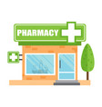 pharmacy drugstore shop store pharmacy on white vector image vector image