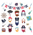 pirate mask masquerade elements costumes vector image vector image