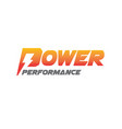 power energy performance logo designs modern vector image