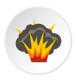 projectile explosion icon circle vector image vector image