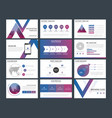 purple blue triangle presentation templates vector image vector image