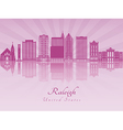 Raleigh V2 skyline in purple radiant orchid vector image vector image