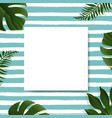 sale banner with tropical leaves background vector image