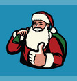 santa claus with bag gifts christmas symbol vector image vector image