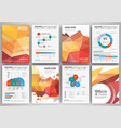 set of business flyer design infographic layout vector image vector image