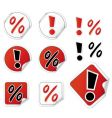 set shopping stickers vector image vector image
