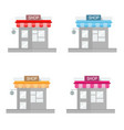shop store flat icon on white background vector image