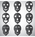 Skull mask emotion set vector image