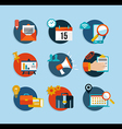 Social media network flat icons set vector image vector image