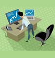 stockbroker in the office vector image