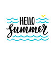 summer calligraphic lettering vector image vector image