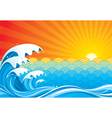 Surf Sun vector image