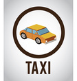 Taxi design over white background vector image