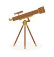 telescope on white background vector image vector image