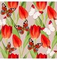 Vintage tulip seamless vector image vector image