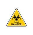 virus icon biohazard virus in flat style vector image vector image