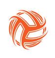 volleyball abstract orange symbol wallpaper vector image vector image