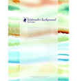 Watercolor banner with blurred glass vector image vector image