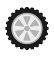 wheel car isolated icon design vector image vector image