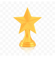 winner star cup award golden trophy logo isolated