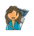 woman with bow arrows vector image
