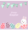 Happy Easter bunny and eggs vector image