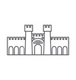 fortress line icon sign vector image