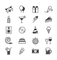 Celebration Party Icons Line vector image