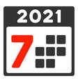 2021 year 7 days flat icon
