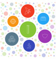 7 biology icons vector image vector image