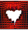Abstract 3D background with heart cracked vector image vector image