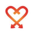 arrows heart vector image vector image