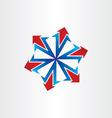 arrows spread out icon vector image