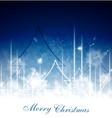 Blue Christmas art design vector image vector image
