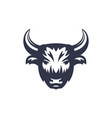buffalo head logo on white vector image