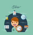 business people time work plan stratregy vector image