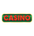 casino button sign on a white background vector image