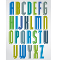 Colorful animated font comic upper case letters vector image vector image