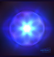 cosmic shining blue background vector image vector image
