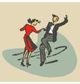 couple dancing rocknroll vector image vector image