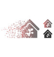 damaged pixel halftone greenhouse building icon vector image vector image