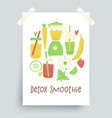 detox smoothie vector image