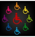Disabled icon set vector image vector image