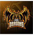dragon king mascot logo design vector image