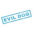 Evil Dog Rubber Stamp vector image vector image