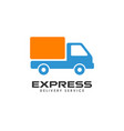 express delivery services logo design courier vector image vector image