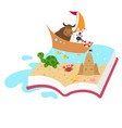 fairytale book concept kid book vector image vector image