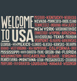 flag usa poster united states america vector image vector image