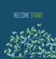 Fresh spring color decorative abstract leaves vector image