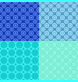 geometrical repeating pattern set - circle vector image vector image